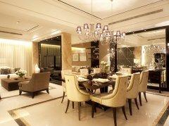 南京装修设计公司排名 中式风格别墅客厅背景墙装修