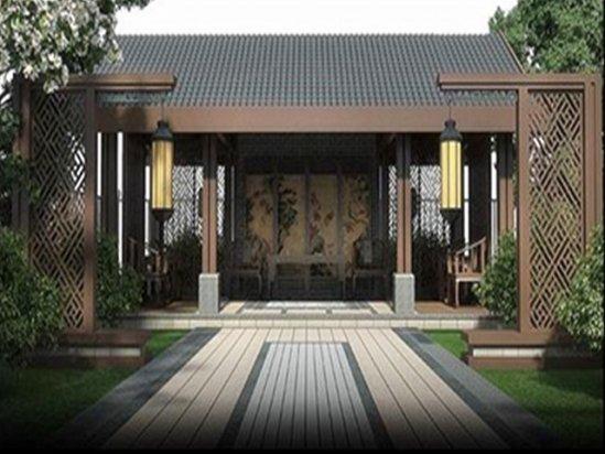 【成都软装设计】中式庭院设计实景图俯视图