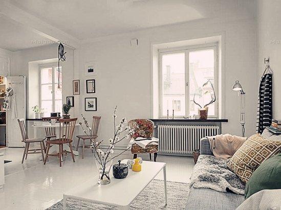 装修图纸 北欧风格装修效果图客厅2021款