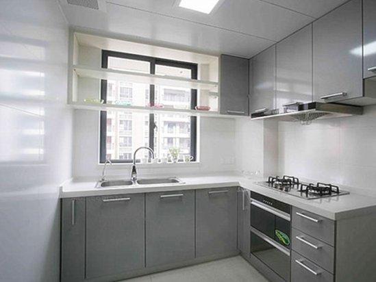 长春装饰公司 灰色简约风格厨房装修效果图
