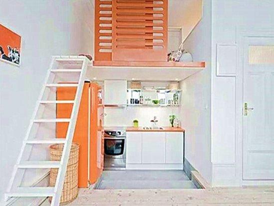 公寓装修图片 小户型loft公寓装修效果图