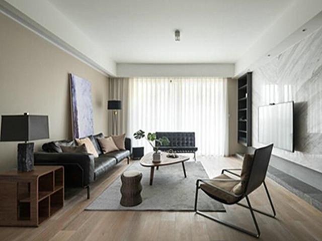 洗衣房 100平米装修效果图现代简约黑白灰
