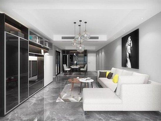 现代风格装修效果图 家庭大厅装修效果图