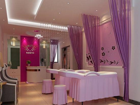 美容美发加盟店 美容院装修风格简单大气省钱